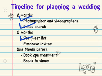Timeline for planning, wedding planning podcast