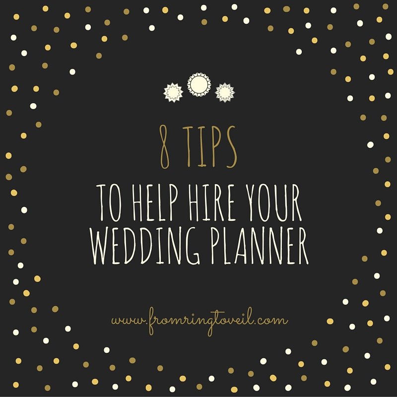 8 tips to help hire your wedding planner