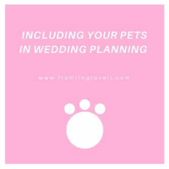 Including your Pets in Wedding Planning