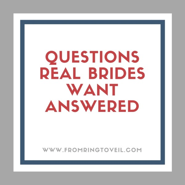 Questions Real Brides Want Answered, wedding planning podcast