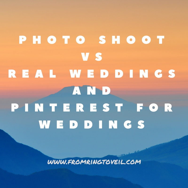 Photo shoot vs Real Weddings and Pinterest for weddings– Episode #82