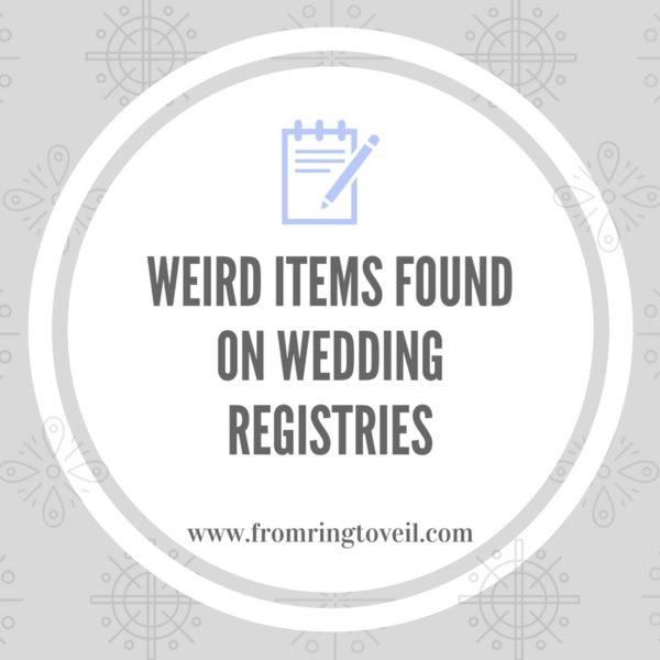 weird items found on wedding registries, wedding planning podcast