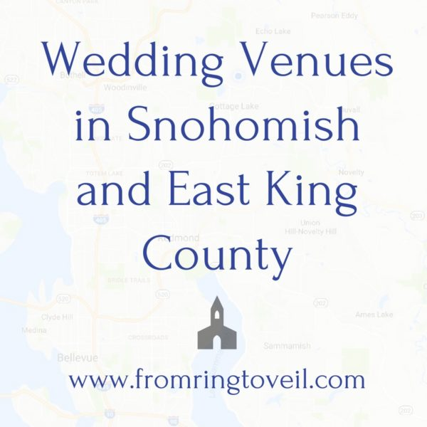 Wedding Venues in Snohomish and East King County