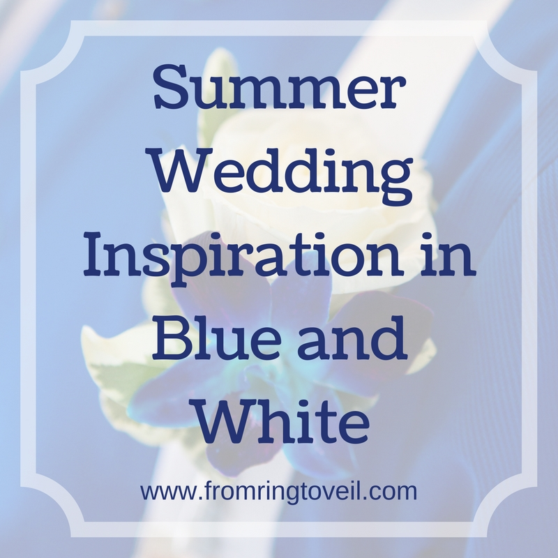 Summer Wedding Inspiration in Blue and White