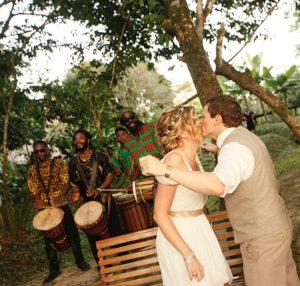 Adventure Destination Weddings Elsie and Jonny Storm, No More Boring Weddings, drumming