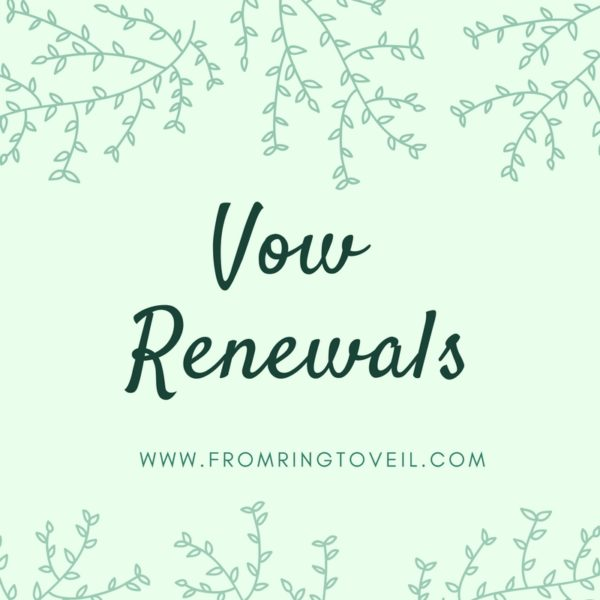 vow renewals, from ring to veil, wedding planning podcast