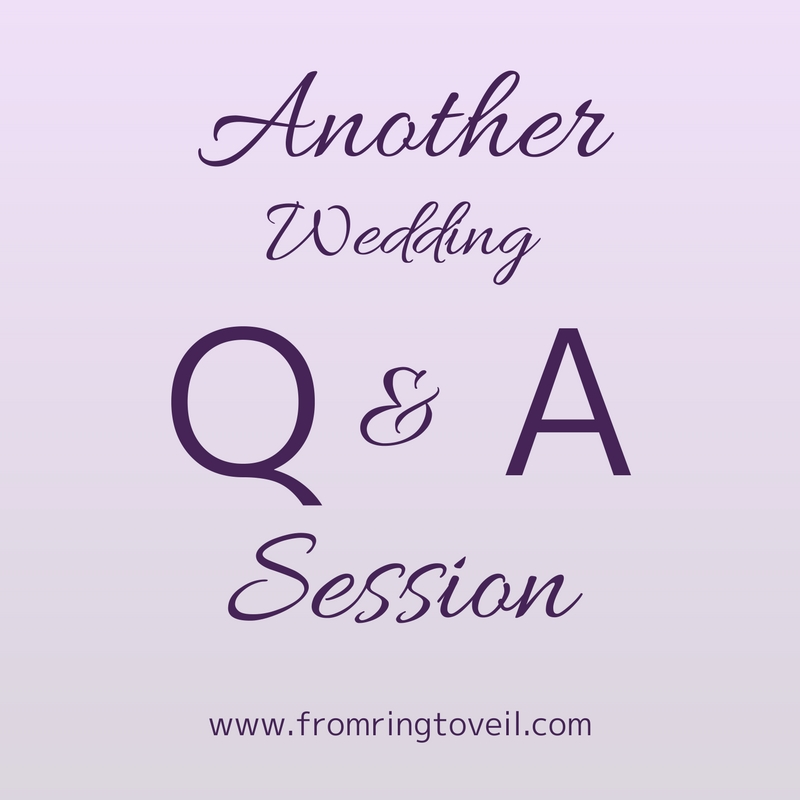 Another Wedding Q&A Session – Episode #133