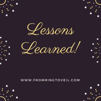 Lessons Learned, wedding planning podcast