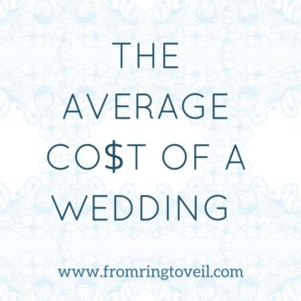THE AVERAGE COST OF A WEDDING , from ring to veil, wedding planning podcast