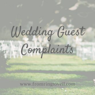 wedding guest complaints, wedding planning podcast