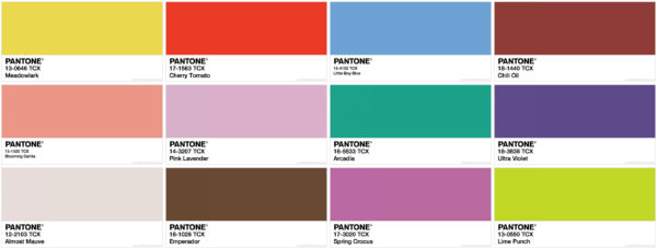 Pantone colors for 2018