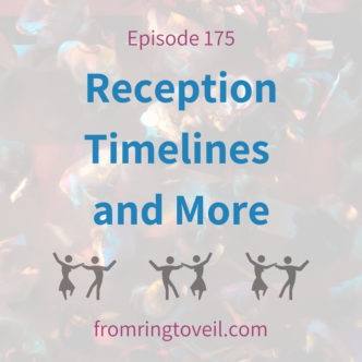 Reception Timelines with and More, Alan Chitlick, Puget sound DJ, Wedding Planning, Podcast