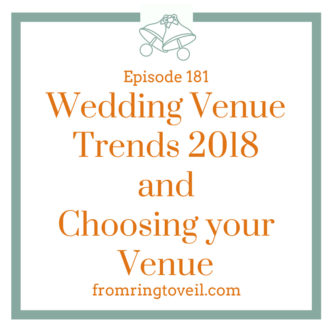 Wedding Venue Trends 2018 and Choosing your Venue, wedding planning, podcast